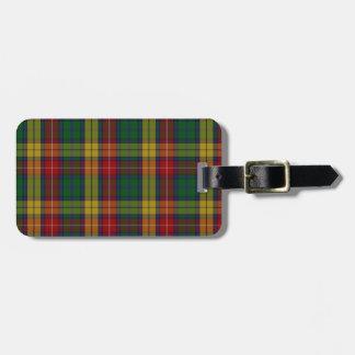Buchanan Clan Family Tartan Luggage Tag