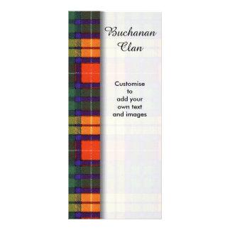 Buchanan clan Plaid Scottish tartan Personalised Rack Card