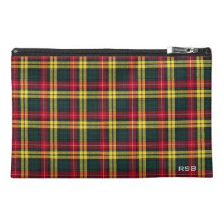 Buchanan Clan Tartan Monogram Travel Accessory Bag