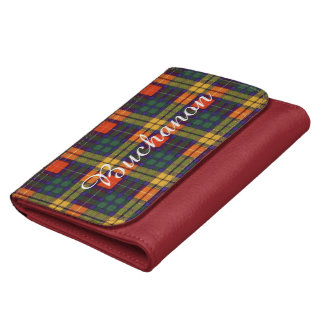 Buchanan Family clan Plaid Scottish kilt tartan Wallets