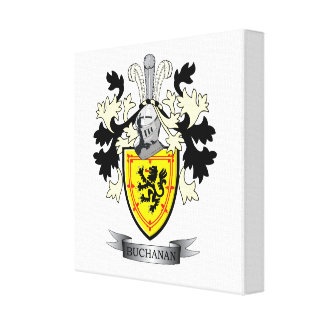 Buchanan Family Crest Coat of Arms Canvas Print