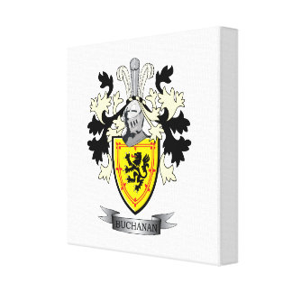 Buchanan Family Crest Coat of Arms Canvas Print
