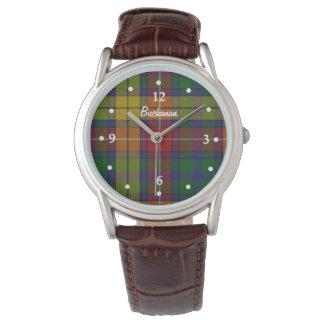 Buchanan Tartan Plaid Faced Custom Watch