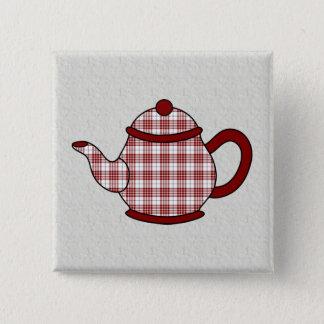 Buchanan Tartan Plaid Teapot 15 Cm Square Badge