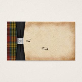 Buchanan Weathered Tartan Wedding Place Cards 2