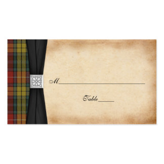 Buchanan Weathered Tartan Wedding Place Cards 2 Pack Of Standard Business Cards