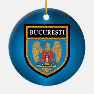 Bucharest  Flag Ceramic Ornament
