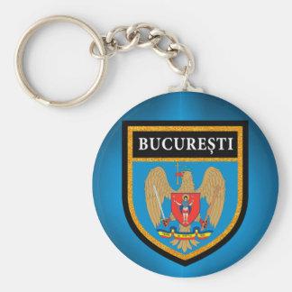 Bucharest  Flag Key Ring