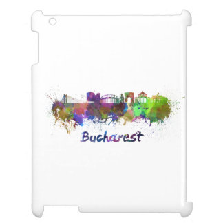 Bucharest skyline in watercolor case for the iPad 2 3 4