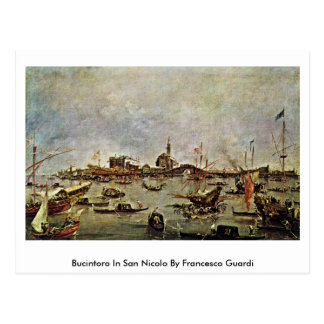 Bucintoro In San Nicolo By Francesco Guardi Postcard