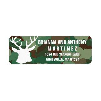 Buck & Camo Personalized Return Address Labels