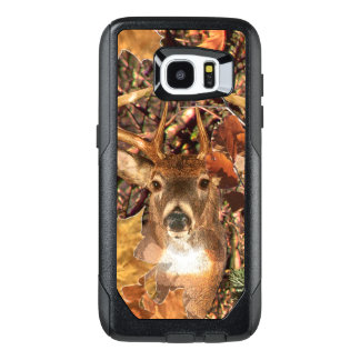 Buck Camouflage White Tail Deer Decor on a OtterBox Samsung Galaxy S7 Edge Case