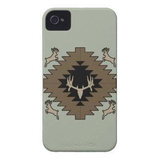 Buck deer American Indian art iPhone 4 Cases
