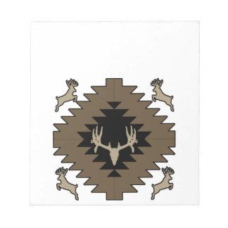 Buck deer American Indian art Notepad