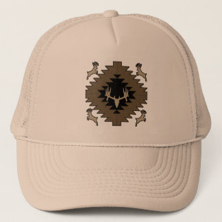 Buck deer American Indian art Trucker Hat