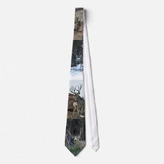 Buck deer collage tie