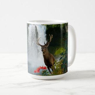 Buck Deer Waterfall Coffee Mug