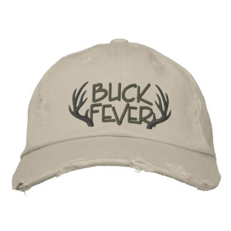 Buck Fever Embroidered Distressed Cap