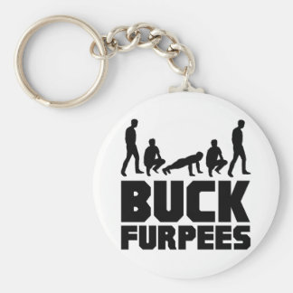 Buck Furpees -- Burpees Fitness Basic Round Button Key Ring