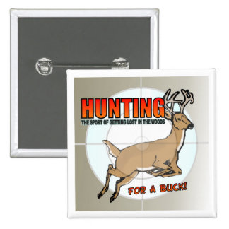 Buck Hunting Button