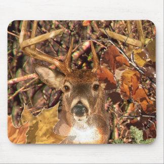 Buck in Camo White Tail Deer Mousepad