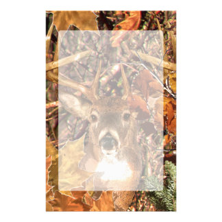 Buck in Fall Camo White Tail Deer Stationery