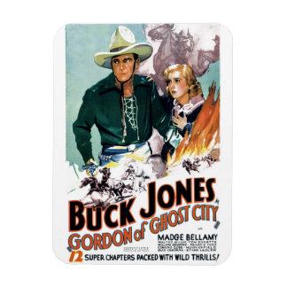 Buck Jones - Gordon of Ghost City Rectangular Magnets