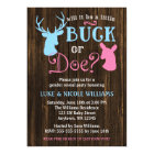 Buck or Doe Gender Reveal Party Baby Shower Card