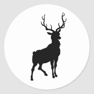 Buck Silhouette Sticker