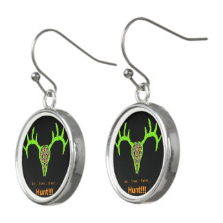 Buck Skull Hunt Earrings