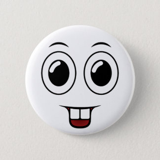 Buck Tooth Smile 6 Cm Round Badge