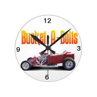 Bucket A Bolts Round Clock