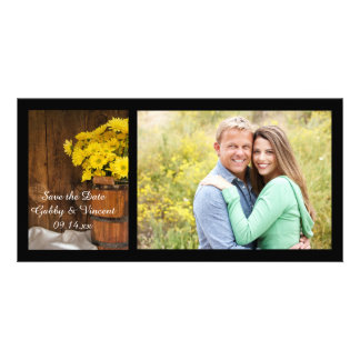 Bucket and Daisies Country Wedding Save the Date Photo Card