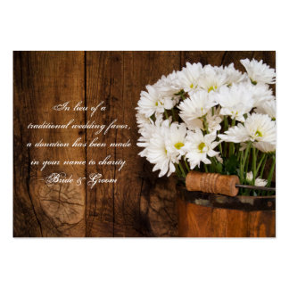 Bucket Daisies Country Wedding Charity Favor Card Pack Of Chubby Business Cards