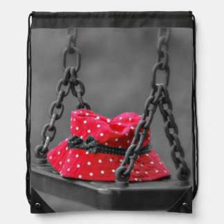 Bucket Hat on Kids Swing Drawstring Bag