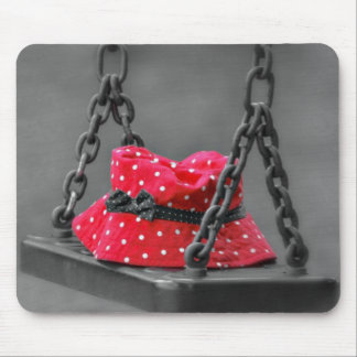 Bucket Hat on Kids Swing Mouse Pad
