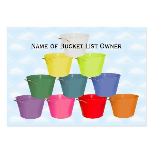 Bucket List Kit Business Card Templates