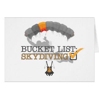 Bucket List: Skydiving (Customizable) Card