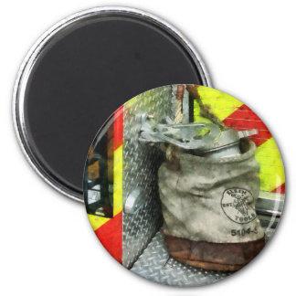 Bucket on Fire Truck Magnet