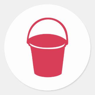 Bucket Round Sticker