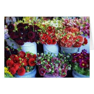 Buckets Of Flowers Card
