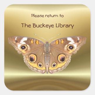 Buckeye butterfly Bookplate 2 ~ sticker