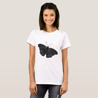 Buckeye Butterfly in Black and White T-Shirt