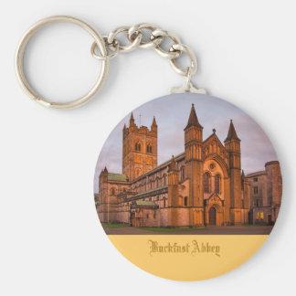 Buckfast Abbey at Sunset Basic Round Button Key Ring