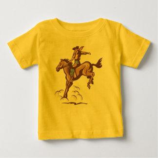 Bucking bronco cowboy baby tee