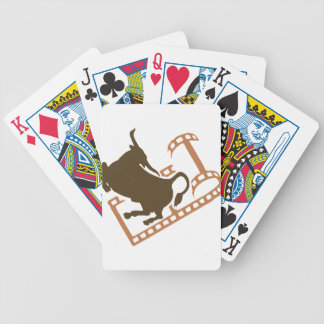 Bucking Bull Film Reel Bicycle Playing Cards