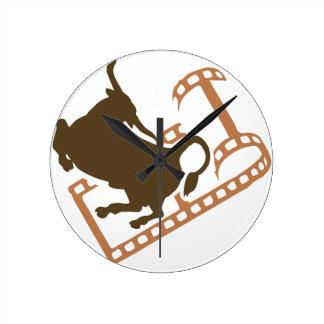 Bucking Bull Film Reel Clock