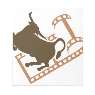 Bucking Bull Film Reel Notepad