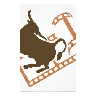 Bucking Bull Film Reel Stationery