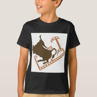 Bucking Bull Film Reel T-Shirt